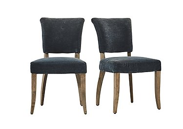 Barbican Pair of Moleskin Dining Chairs in Mimi Vintage Moleskin Duck on FV