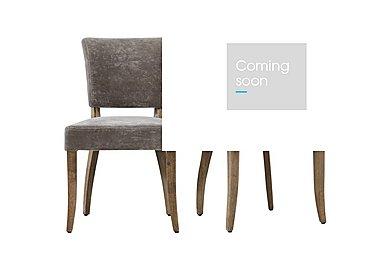 Barbican Pair of Moleskin Dining Chairs in Mimi Vintage Moleskin Fog on FV