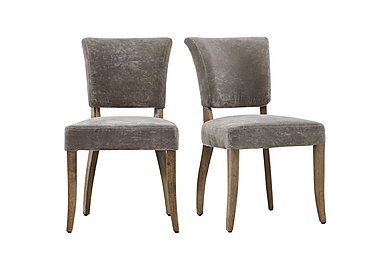 Barbican Moleskin Dining Chair Pair  in {$variationvalue}  on FV