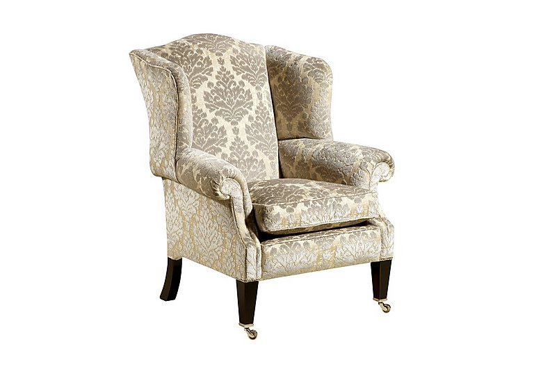 Berkeley Nightingale Fabric Armchair in Wendover - Soft Gold on FV