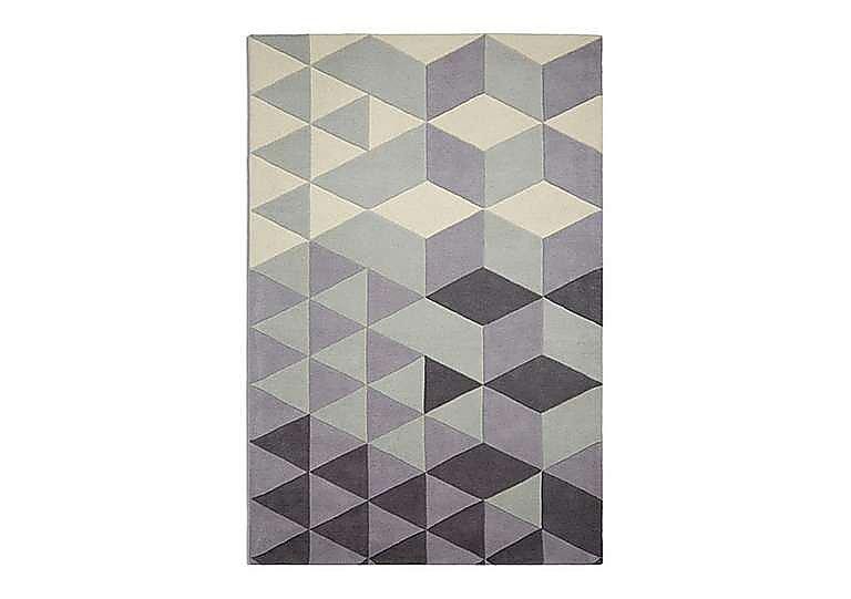 Geometric Rug in Grey on FV