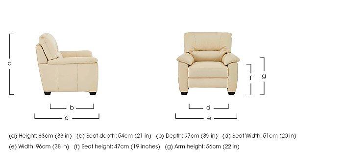Apollo Leather Armchair  in {$variationvalue}  on FV