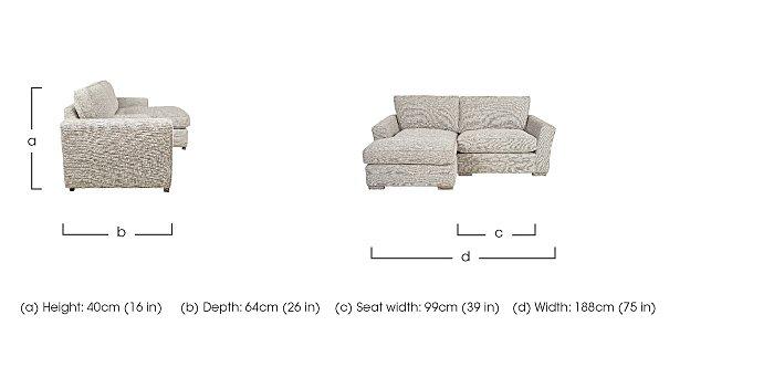 Ashridge Small Fabric Corner Chaise  in {$variationvalue}  on FV