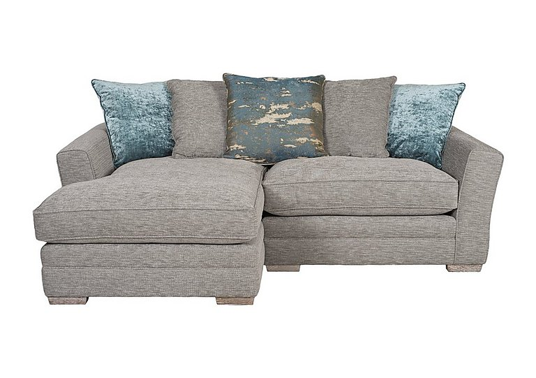 Ashridge Small Fabric Corner Chaise in Stone Slate Brad Marble Lo Ft on FV