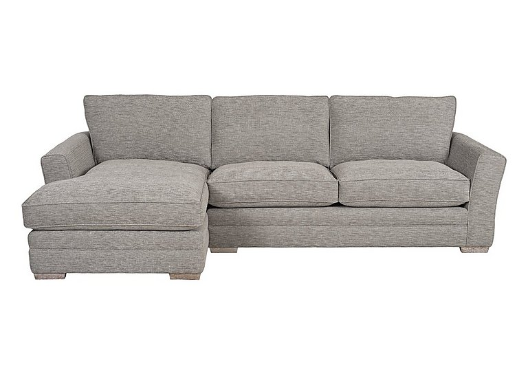 Ashridge Large Fabric Corner Chaise in Cavolo Plain Stone Lo Ft on FV