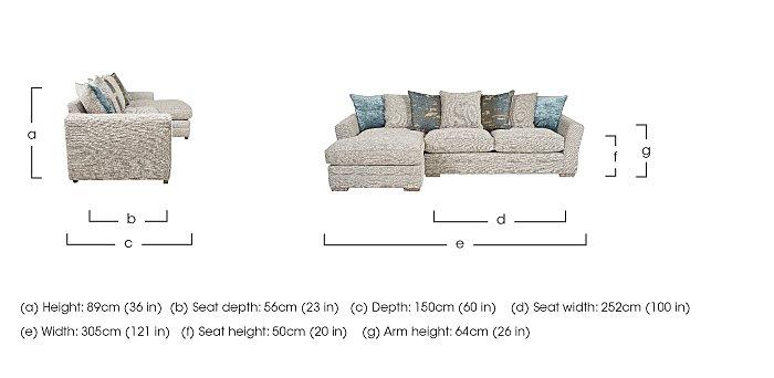 Ashridge Large Fabric Corner Chaise in  on FV