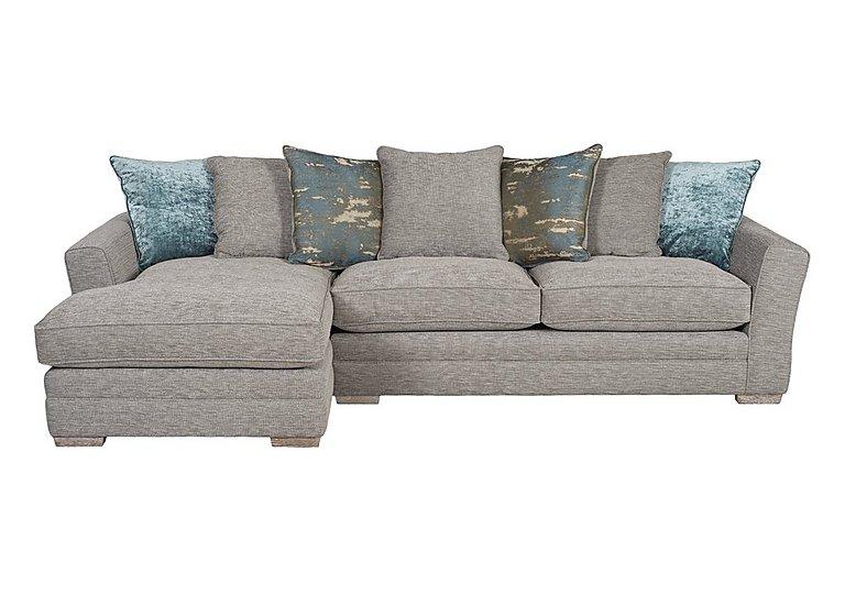 Ashridge Large Fabric Corner Chaise in Stone Slate Brad Marble Lo Ft on FV
