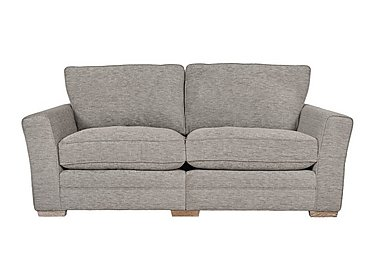 Ashridge 3 Seater Fabric Sofa in Cavolo Plain Stone Lo Ft on FV