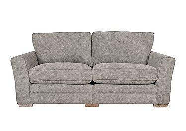 Ashridge 3 Seater Fabric Sofa in Cavolo Plain Stone Lo Ft on FV