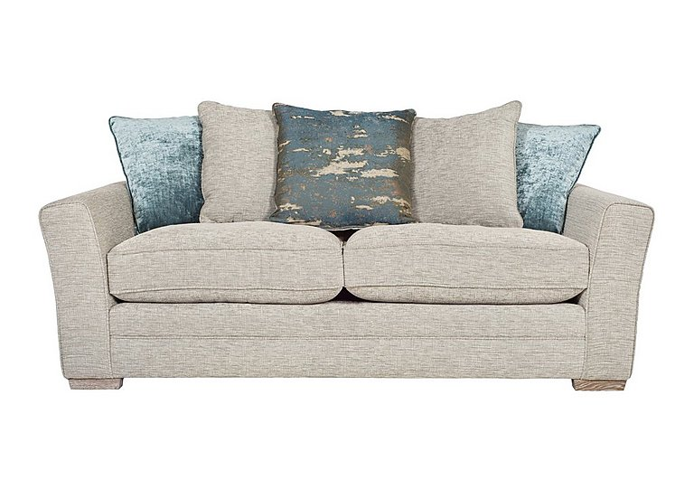 Ashridge 3 Seater Fabric Sofa in Stone Slate Brad Marble Lo Ft on FV