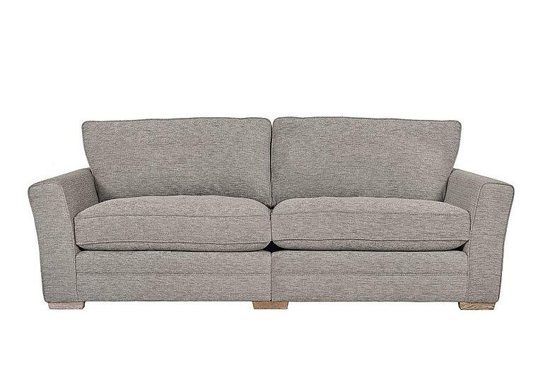 Ashridge 4 Seater Fabric Sofa in Cavolo Plain Stone Lo Ft on FV