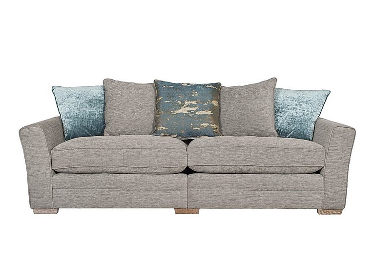 Ashridge 4 Seater Fabric Sofa in Stone Slate Brad Marble Lo Ft on FV