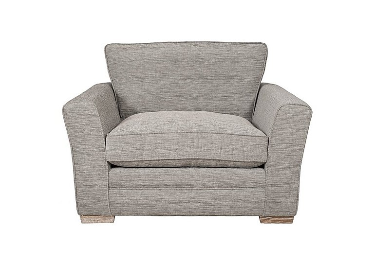 Ashridge Fabric Snuggler Armchair in Cavolo Plain Stone Lo Ft on FV