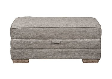 Ashridge Large Fabric Storage Footstool in Cavolo Plain Stone Lo Ft on FV
