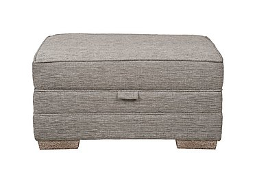 Ashridge Small Fabric Storage Footstool in Cavolo Plain Stone Lo Ft on FV