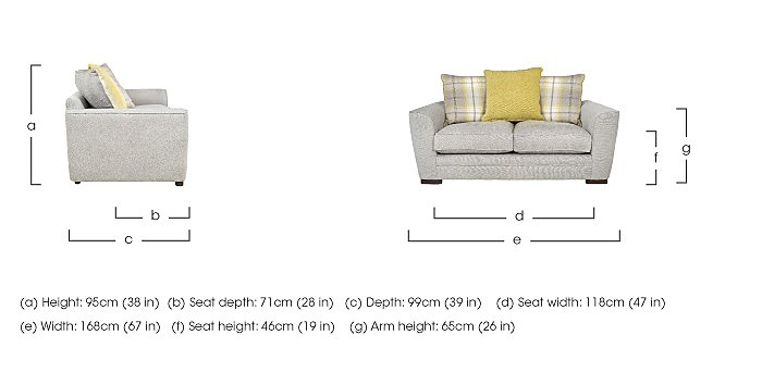 Wilton 2 Seater Fabric Pillow Back Sofa in  on FV