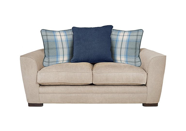 Wilton 2 Seater Fabric Pillow Back Sofa in Pebble Midnight Balm Sky Dk Ft on FV
