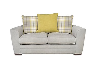Wilton 2 Seater Fabric Sofa in Steel Lime Balm Citrus Dk Ft on FV