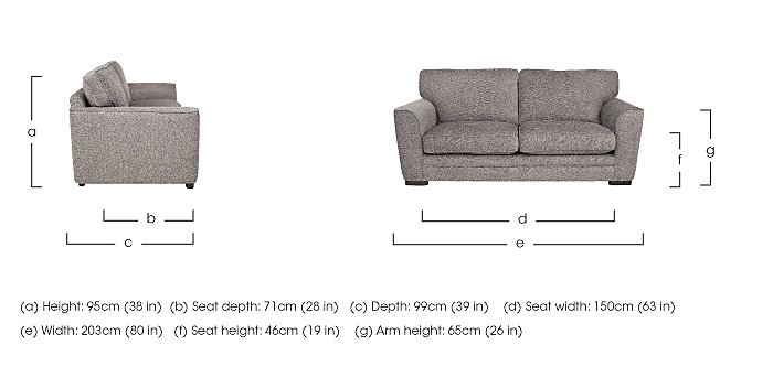Wilton 3 Seater Fabric Sofa  in {$variationvalue}  on FV