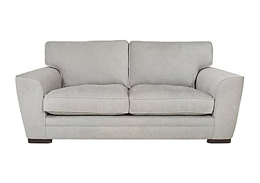 Wilton 3 Seater Fabric Sofa in Fusion Plain Steel Dk Ft on Furniture Village