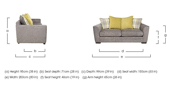 Wilton 3 Seater Fabric Sofa in  on FV