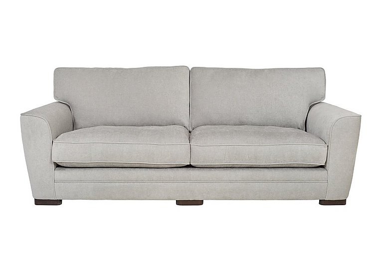 Wilton 4 Seater Fabric Sofa in Fusion Plain Steel Dk Ft on FV