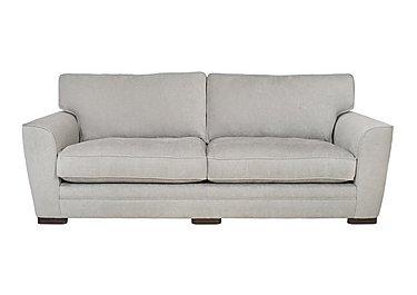 Wilton 4 Seater Fabric Sofa in Fusion Plain Steel Dk Ft on FV