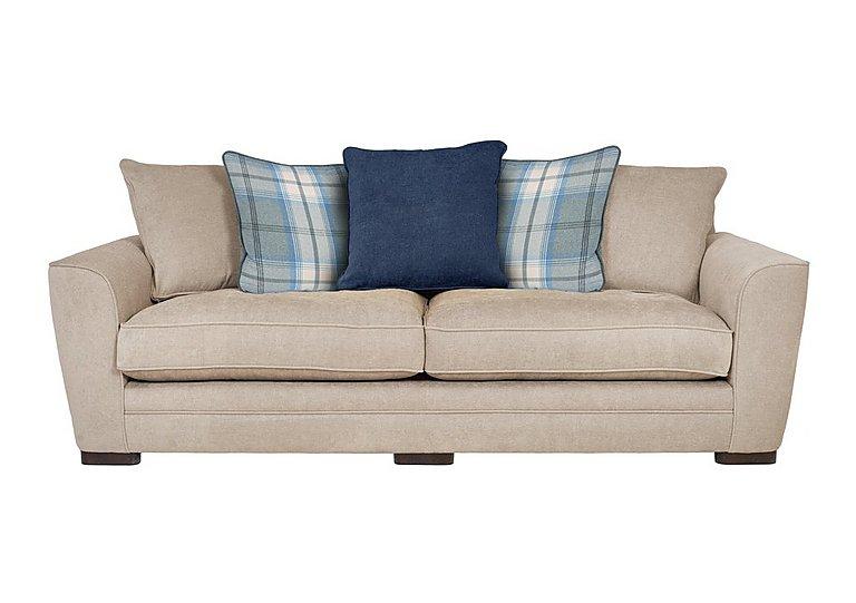 Wilton 4 Seater Fabric Sofa in Pebble Midnight Balm Sky Dk Ft on FV