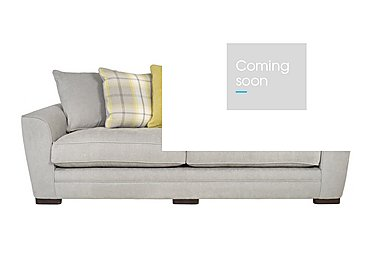 Wilton 4 Seater Fabric Sofa in Steel Lime Balm Citrus Dk Ft on FV