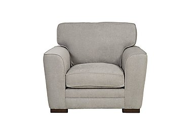Wilton Fabric Armchair in Fusion Plain Steel Dk Ft on FV