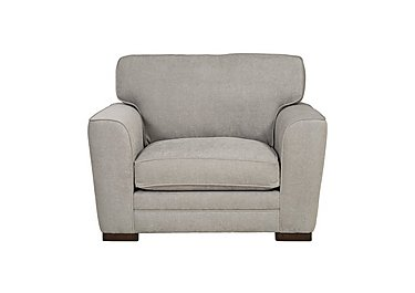 Wilton Fabric Snuggler Armchair in Fusion Plain Steel Dk Ft on FV
