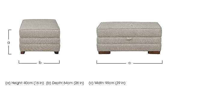 Wilton Large Fabric Storage Footstool in  on FV