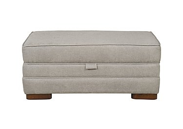 Wilton Large Fabric Storage Footstool in Fusion Plain Steel Dk Ft on FV