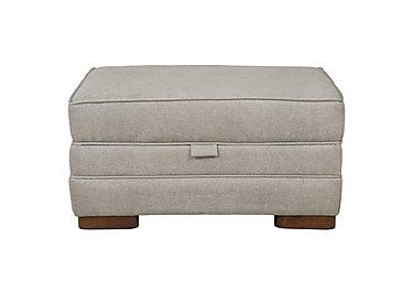 Wilton Small Fabric Storage Footstool in Fusion Plain Steel Dk Ft on FV