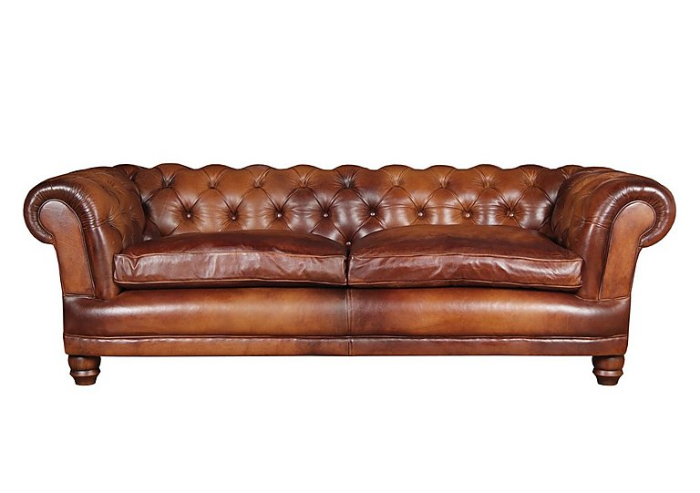 Chatsworth 4 Seater Leather Sofa Tetrad Furniture Village
