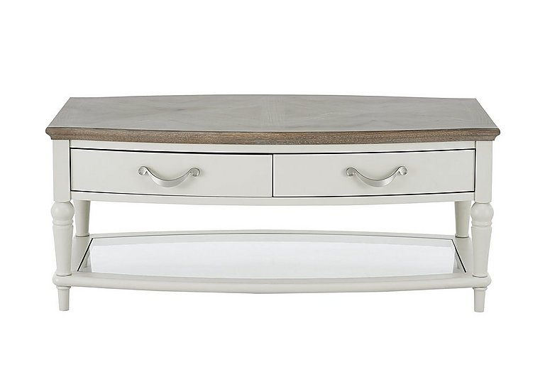 Annecy Coffee Table in Grey Washed Oak And Soft Grey on Furniture Village