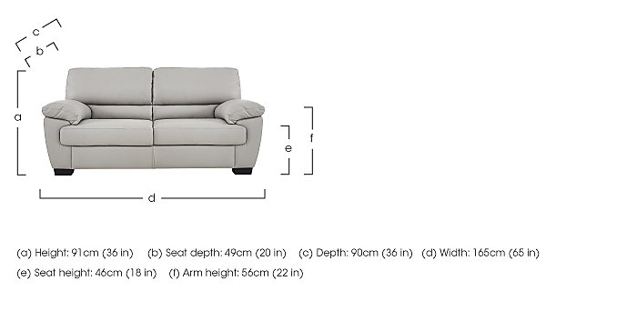Alvera 2 Seater Leather Sofa in  on FV