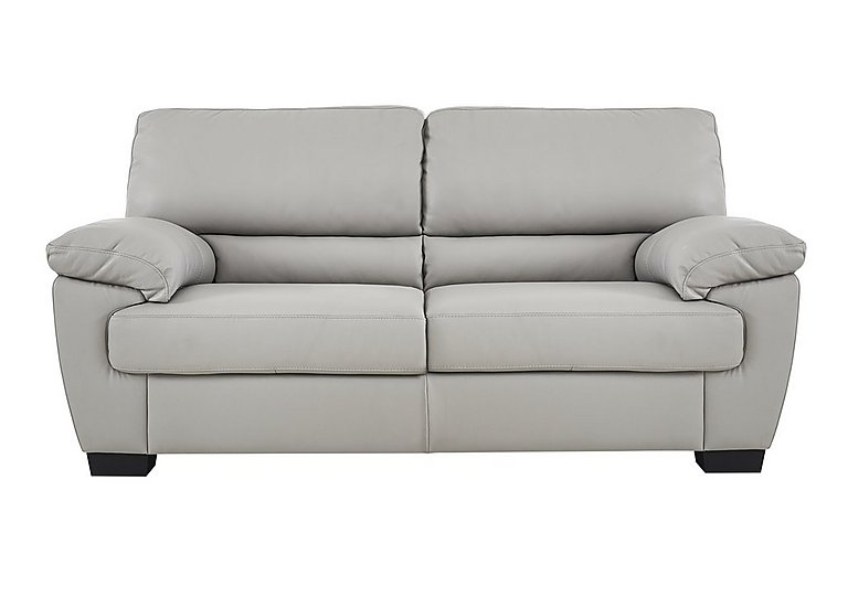 Alvera 2 Seater Leather Sofa in Denver 10bz Sg Medium Grey on FV