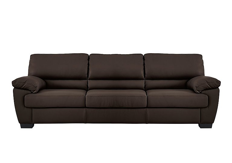 Alvera 3 Seater Leather Sofa