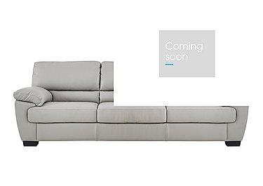 Alvera 3 Seater Leather Sofa in Denver 10bz Sg Medium Grey on FV