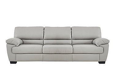 Alvera 3 Seater Leather Sofa in Denver 10bz Sg Medium Grey on FV
