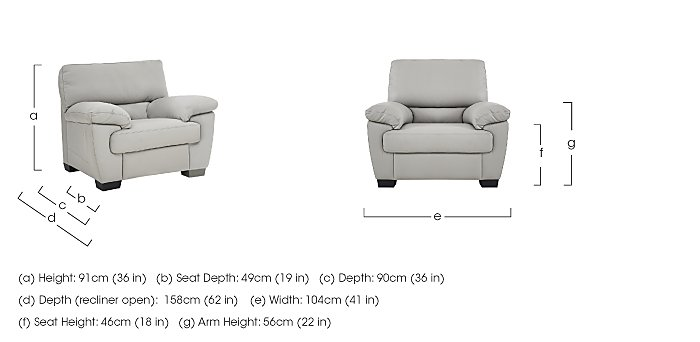 Alvera Leather Armchair in  on Furniture Village
