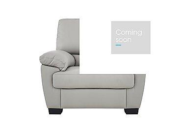 Alvera Leather Armchair in Denver 10bz Sg Medium Grey on FV