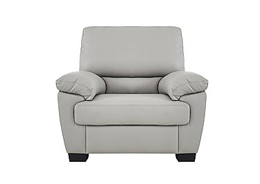 Alvera Leather Armchair in Denver 10bz Sg Medium Grey on FV