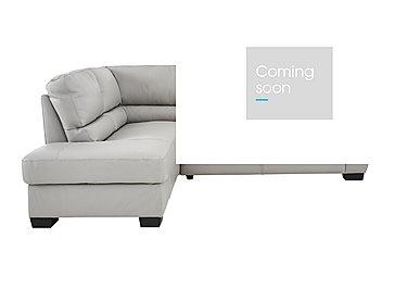 Alvera Leather Corner Sofa in Denver 10bz Sg Medium Grey on FV