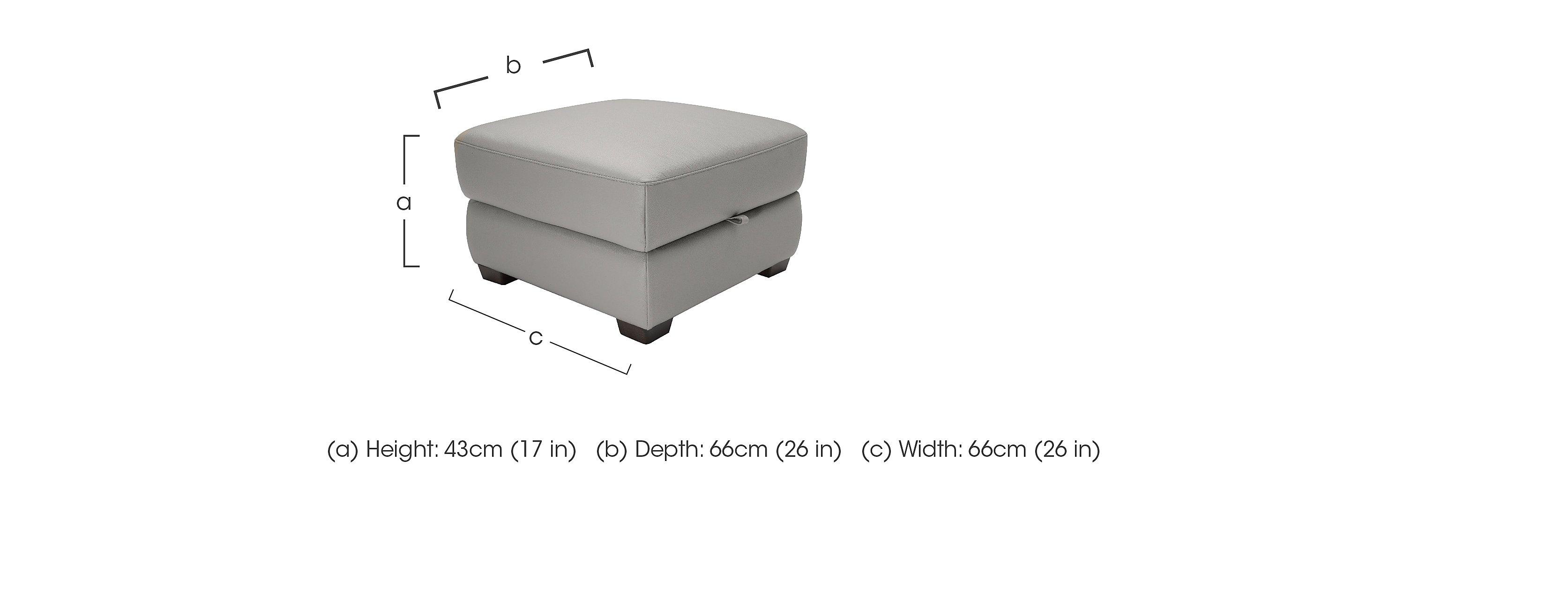 Alvera Leather Storage Footstool in  on FV
