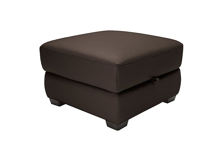 Alvera Leather Storage Footstool