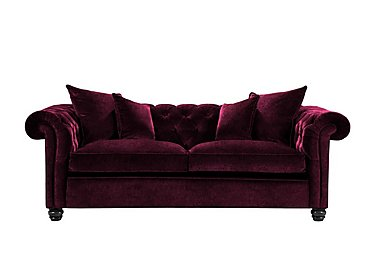 Curzon 3 Seater Fabric Sofa in Rembrandt Vel Alizarin Crimson on FV