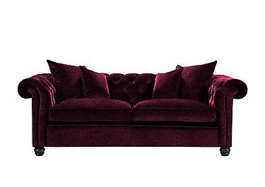Curzon 3 Seater Fabric Sofa in Rembrandt Vel Alizarin Crimson on Furniture Village
