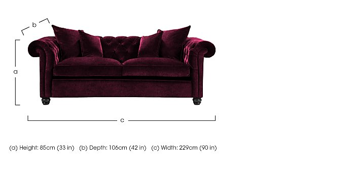 Curzon 2 Seater Fabric Sofa in  on Furniture Village